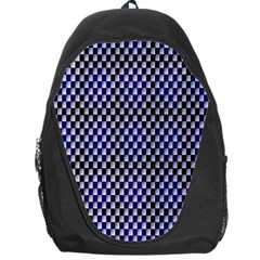 Squares Blue Background Backpack Bag