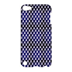 Squares Blue Background Apple iPod Touch 5 Hardshell Case