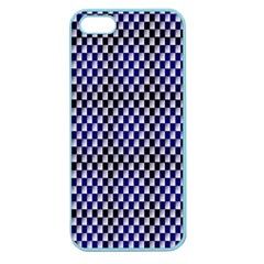 Squares Blue Background Apple Seamless iPhone 5 Case (Color)