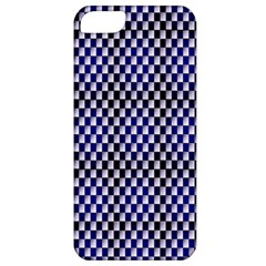 Squares Blue Background Apple iPhone 5 Classic Hardshell Case