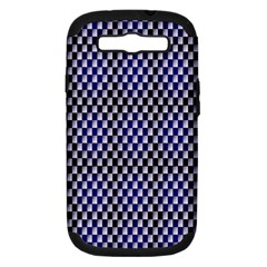 Squares Blue Background Samsung Galaxy S Iii Hardshell Case (pc+silicone)
