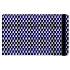 Squares Blue Background Apple Ipad 3/4 Flip Case