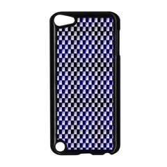 Squares Blue Background Apple iPod Touch 5 Case (Black)