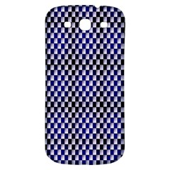 Squares Blue Background Samsung Galaxy S3 S III Classic Hardshell Back Case