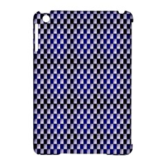 Squares Blue Background Apple iPad Mini Hardshell Case (Compatible with Smart Cover)