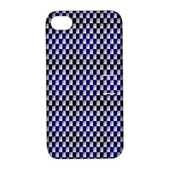 Squares Blue Background Apple iPhone 4/4S Hardshell Case with Stand