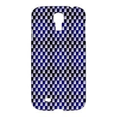 Squares Blue Background Samsung Galaxy S4 I9500/I9505 Hardshell Case