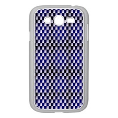 Squares Blue Background Samsung Galaxy Grand DUOS I9082 Case (White)