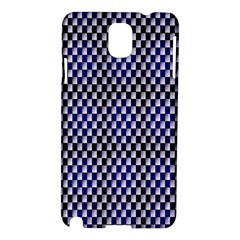 Squares Blue Background Samsung Galaxy Note 3 N9005 Hardshell Case