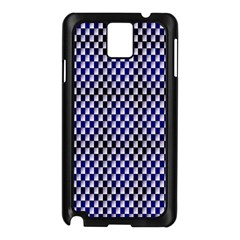 Squares Blue Background Samsung Galaxy Note 3 N9005 Case (black)