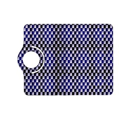 Squares Blue Background Kindle Fire Hd (2013) Flip 360 Case