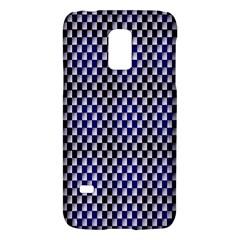 Squares Blue Background Galaxy S5 Mini