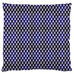 Squares Blue Background Standard Flano Cushion Case (One Side)
