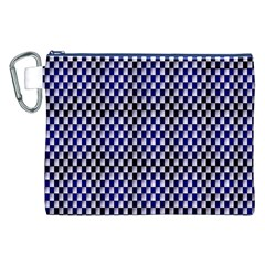 Squares Blue Background Canvas Cosmetic Bag (XXL)