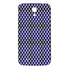 Squares Blue Background Samsung Galaxy Mega I9200 Hardshell Back Case