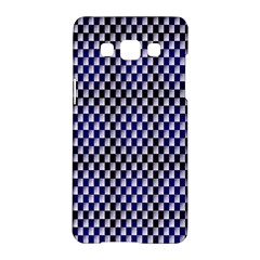 Squares Blue Background Samsung Galaxy A5 Hardshell Case