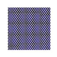 Squares Blue Background Small Satin Scarf (Square)