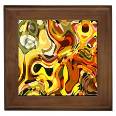 Colourful Abstract Background Design Framed Tiles