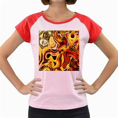 Colourful Abstract Background Design Women s Cap Sleeve T Shirt