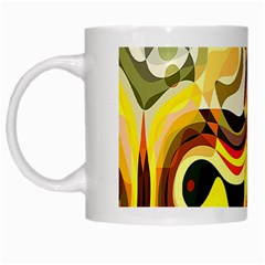 Colourful Abstract Background Design White Mugs