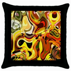 Colourful Abstract Background Design Throw Pillow Case (Black)
