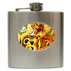 Colourful Abstract Background Design Hip Flask (6 Oz)