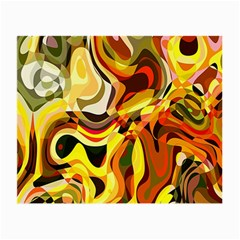 Colourful Abstract Background Design Small Glasses Cloth