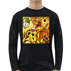 Colourful Abstract Background Design Long Sleeve Dark T-Shirts