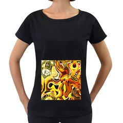 Colourful Abstract Background Design Women s Loose Fit T Shirt (black)