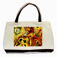 Colourful Abstract Background Design Basic Tote Bag