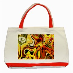 Colourful Abstract Background Design Classic Tote Bag (Red)