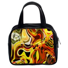 Colourful Abstract Background Design Classic Handbags (2 Sides)