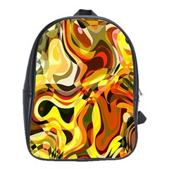 Colourful Abstract Background Design School Bags(large)