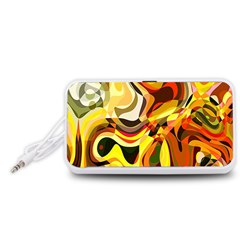 Colourful Abstract Background Design Portable Speaker (White)