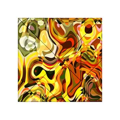 Colourful Abstract Background Design Acrylic Tangram Puzzle (4  X 4 )