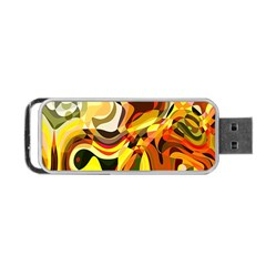 Colourful Abstract Background Design Portable USB Flash (One Side)