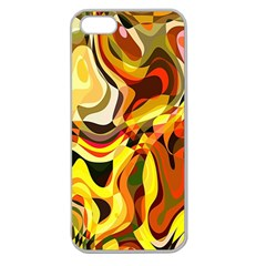 Colourful Abstract Background Design Apple Seamless iPhone 5 Case (Clear)