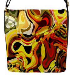Colourful Abstract Background Design Flap Messenger Bag (S)