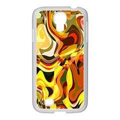 Colourful Abstract Background Design Samsung GALAXY S4 I9500/ I9505 Case (White)