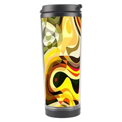 Colourful Abstract Background Design Travel Tumbler