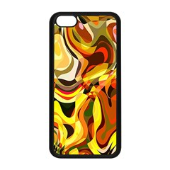 Colourful Abstract Background Design Apple iPhone 5C Seamless Case (Black)