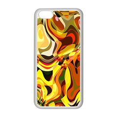 Colourful Abstract Background Design Apple iPhone 5C Seamless Case (White)