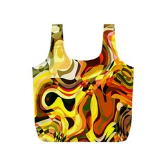 Colourful Abstract Background Design Full Print Recycle Bags (S)