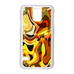 Colourful Abstract Background Design Samsung Galaxy S5 Case (White)
