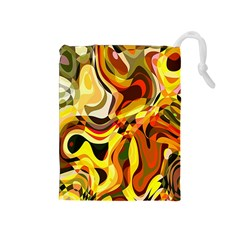 Colourful Abstract Background Design Drawstring Pouches (Medium)