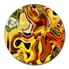 Colourful Abstract Background Design Round Mousepads