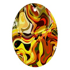 Colourful Abstract Background Design Ornament (Oval)