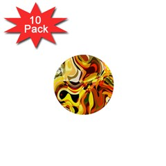 Colourful Abstract Background Design 1  Mini Magnet (10 Pack)