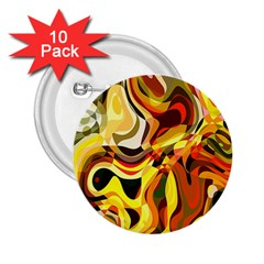 Colourful Abstract Background Design 2.25  Buttons (10 pack)