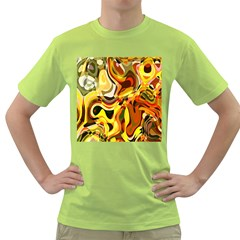 Colourful Abstract Background Design Green T Shirt